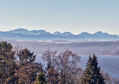 Aussicht auf die Alpenkette
